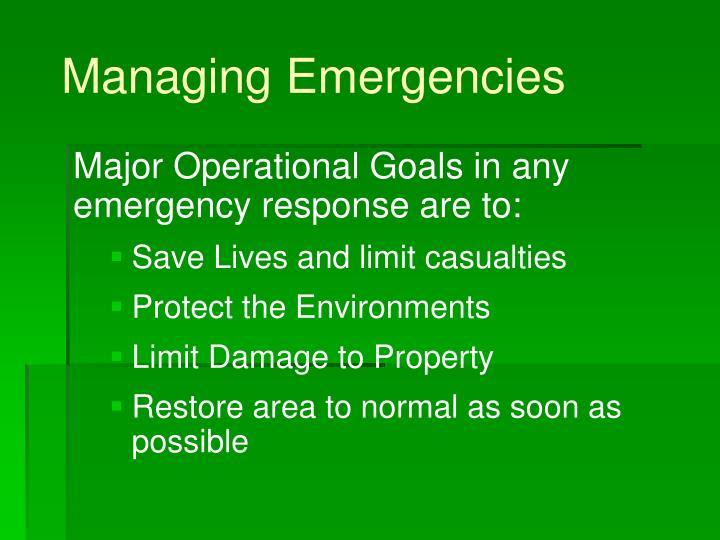 Managing emergencies3