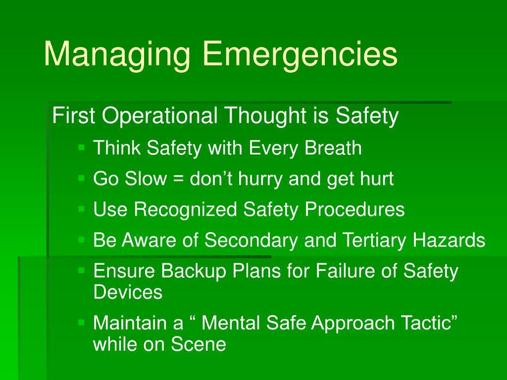 Managing Emergencies