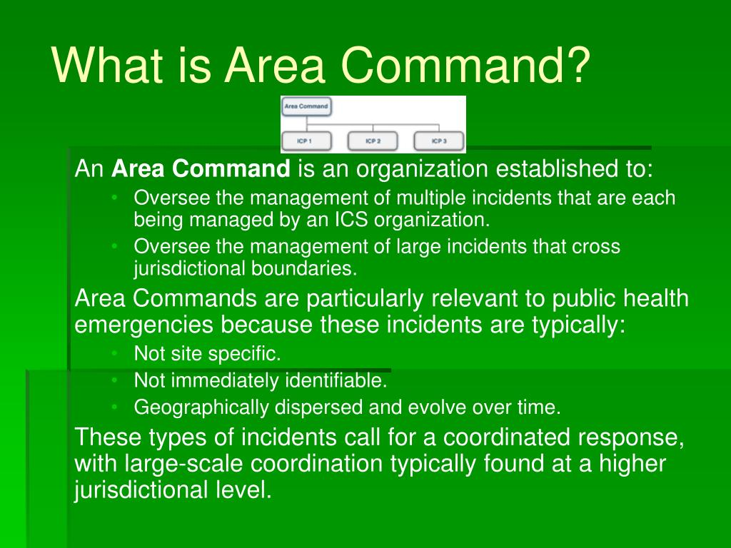 What is Area Command?