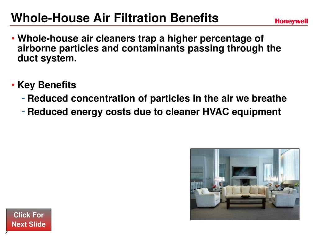 Whole-House Air Filtration Benefits