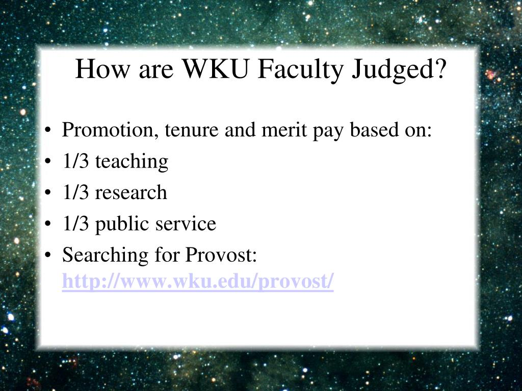 How are WKU Faculty Judged?