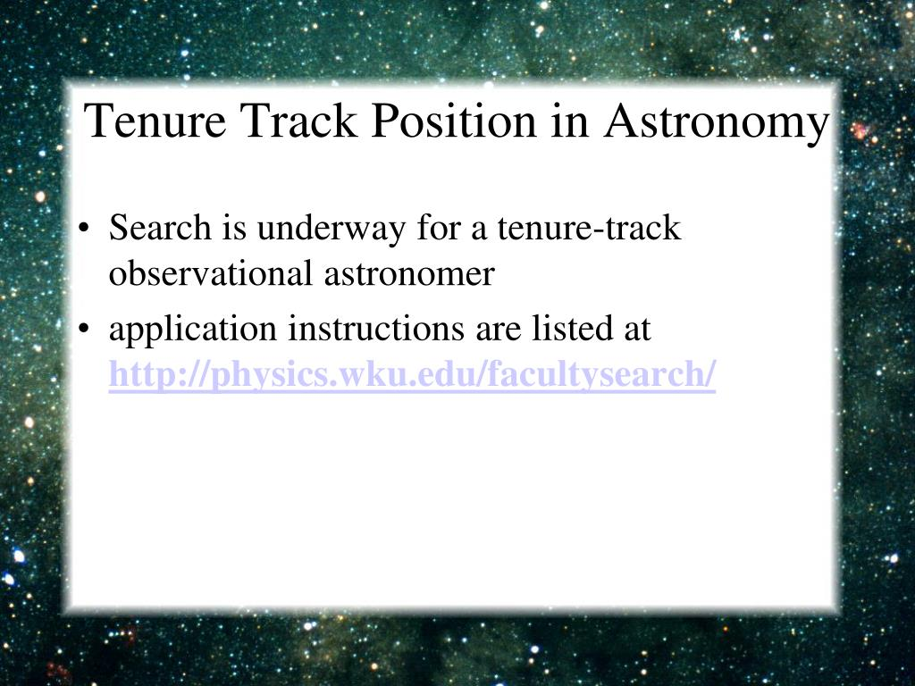 Tenure Track Position in Astronomy