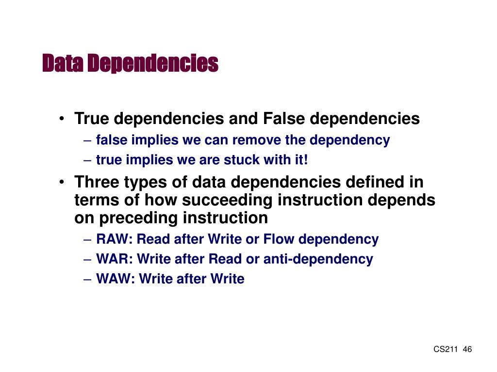 Data Dependencies