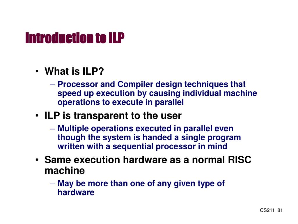Introduction to ILP