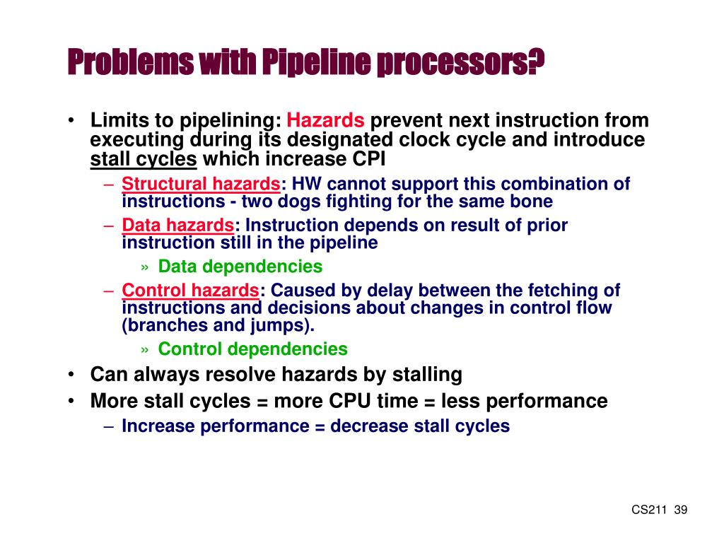 Problems with Pipeline processors?