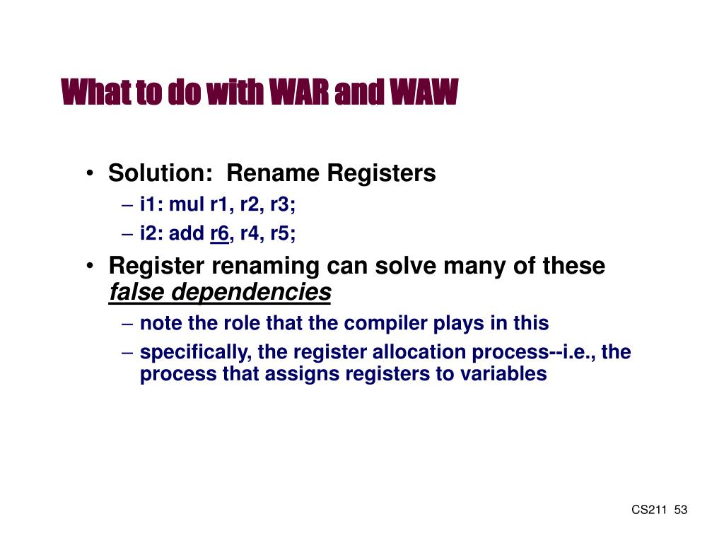 What to do with WAR and WAW
