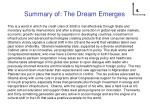 summary of the dream emerges