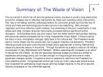 summary of the waste of vision