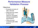 performance measure validation process34