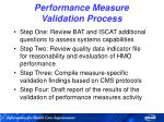 performance measure validation process36