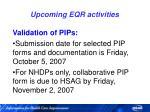 upcoming eqr activities80