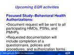 upcoming eqr activities83