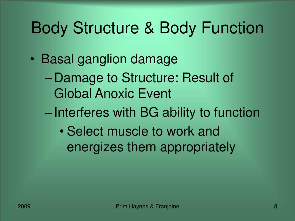 Body Structure & Body Function