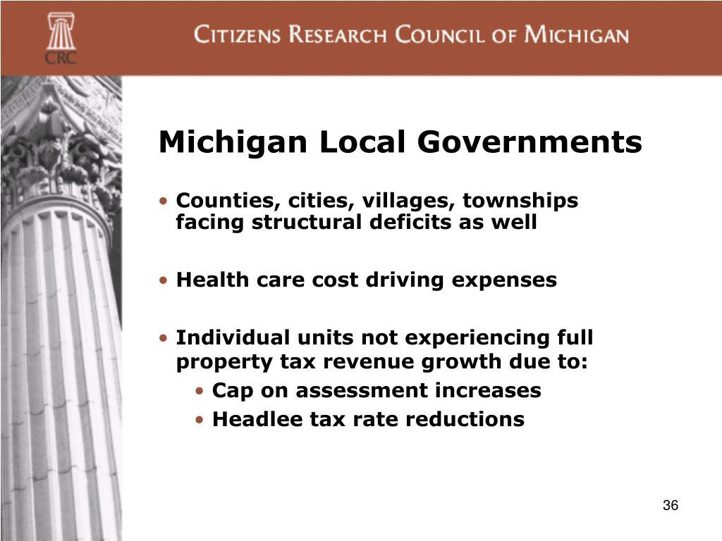 Michigan Local Governments
