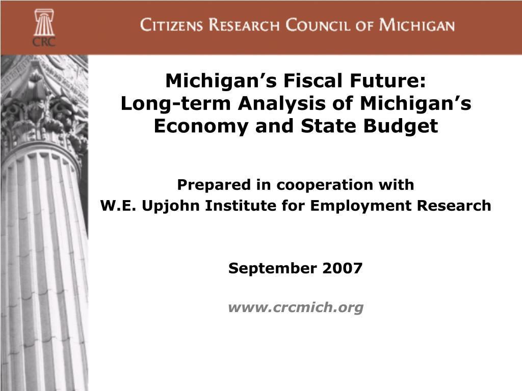 Michigan's Fiscal Future:
