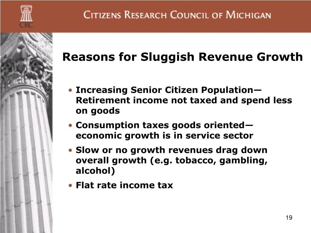 Reasons for Sluggish Revenue Growth