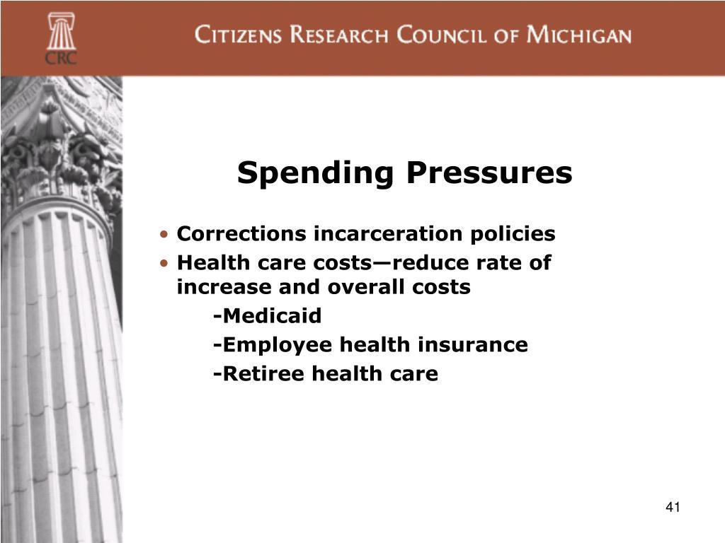 Spending Pressures