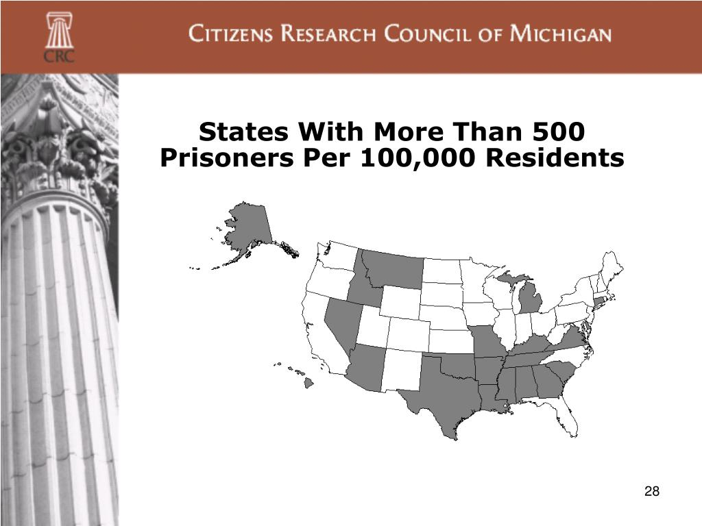 States With More Than 500 Prisoners Per 100,000 Residents