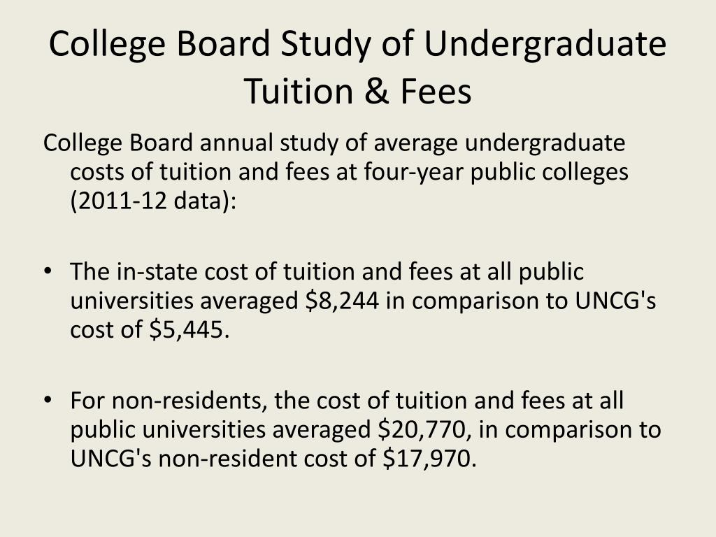 College Board Study of Undergraduate Tuition & Fees