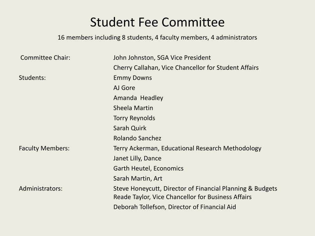 Student Fee Committee
