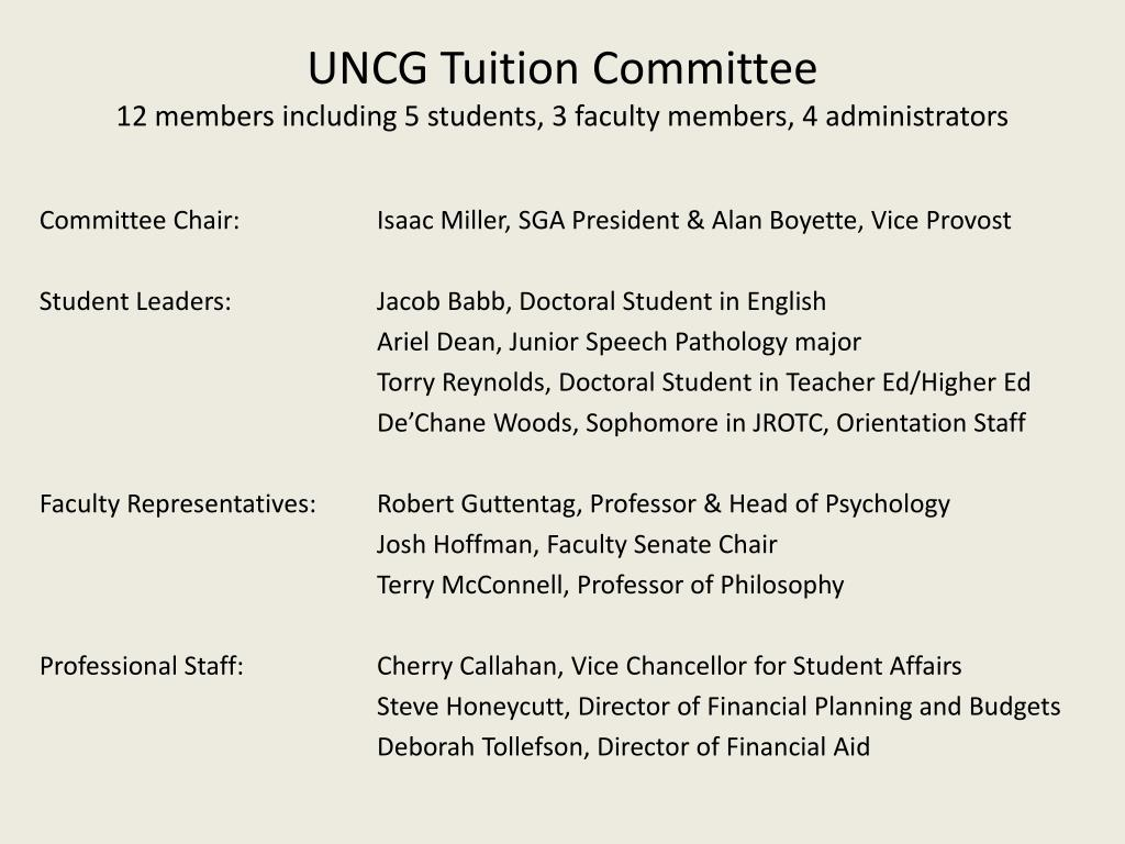 UNCG Tuition Committee