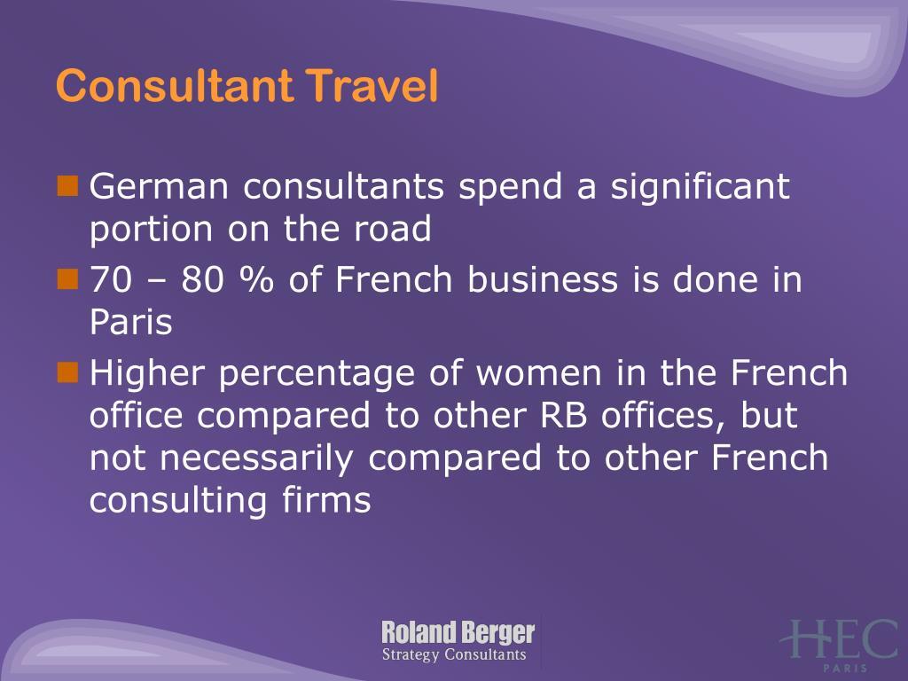 Consultant Travel
