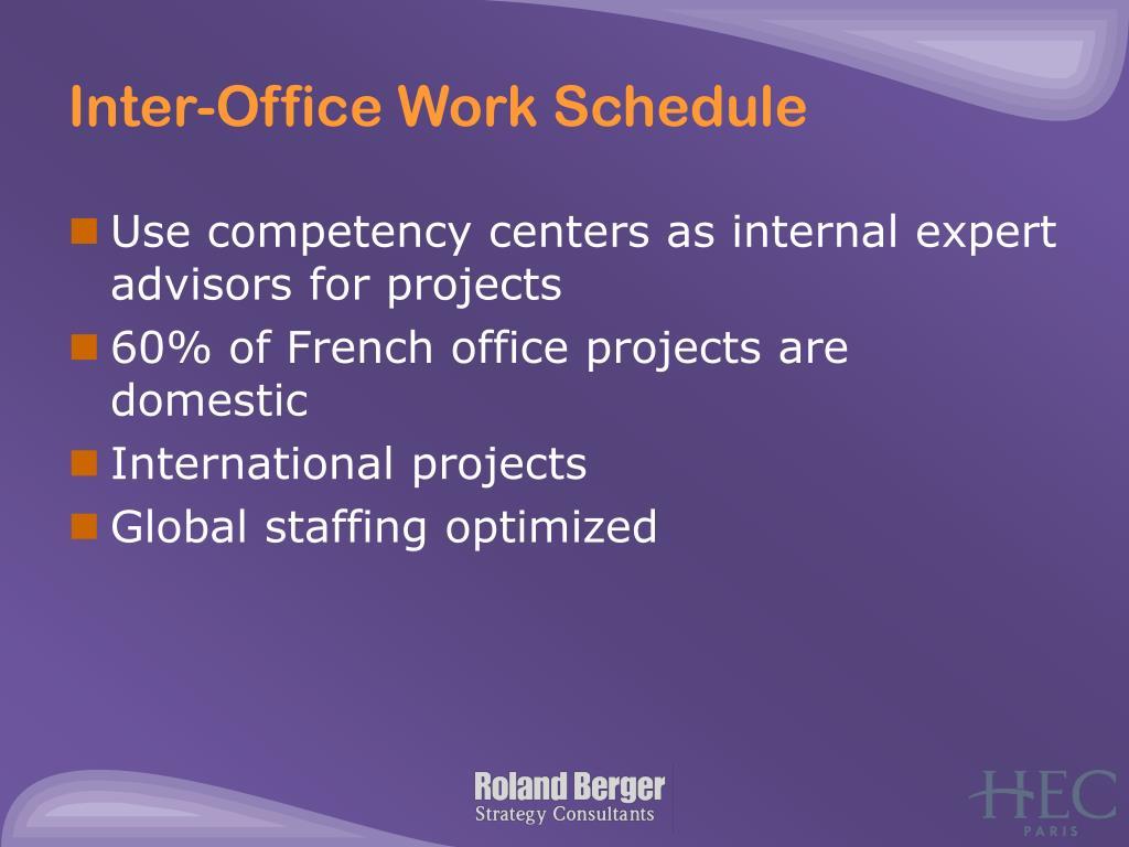 Inter-Office Work Schedule