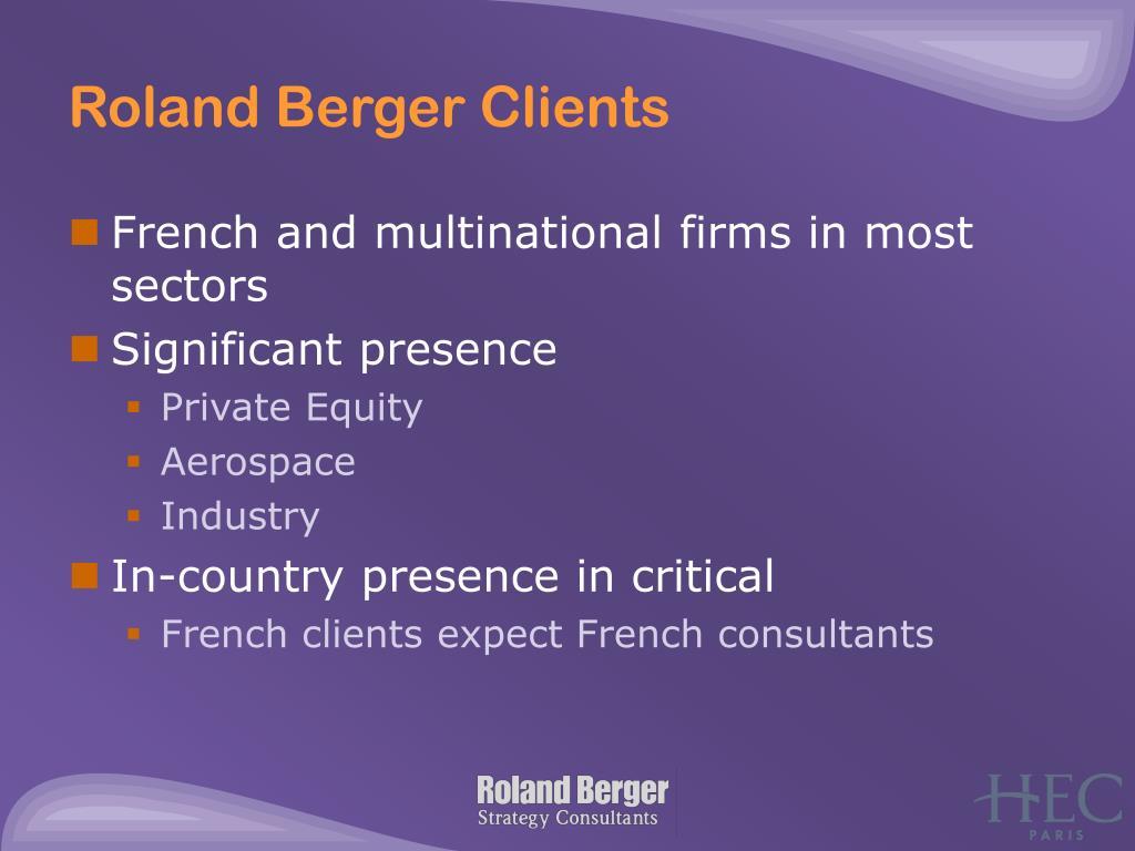 Roland Berger Clients
