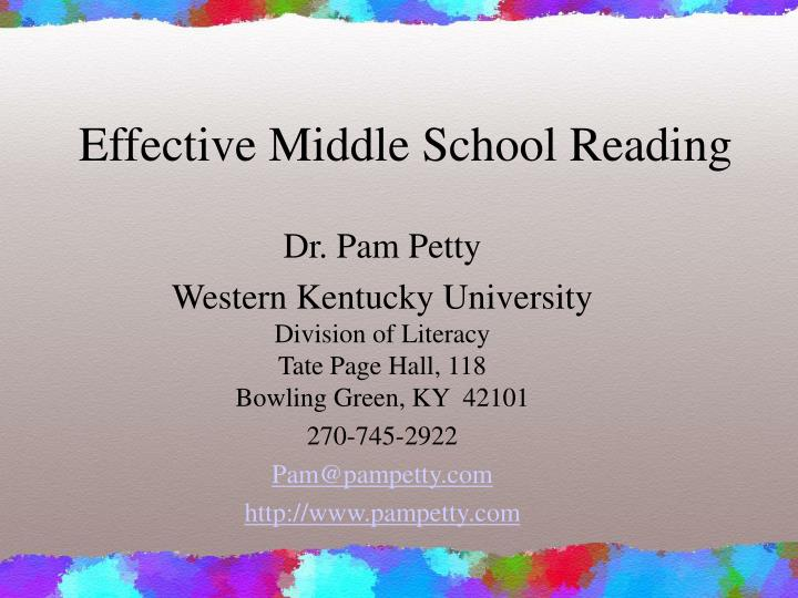 effective middle school reading n.