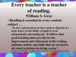 every teacher is a teacher of reading william s gray