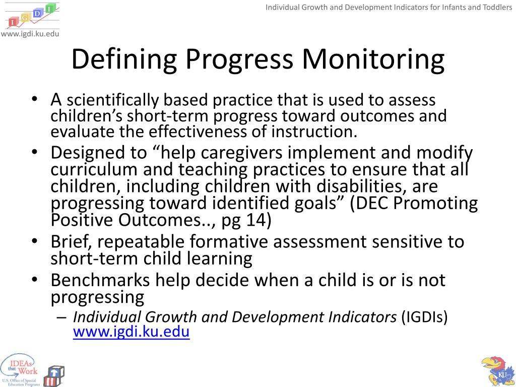 Defining Progress Monitoring