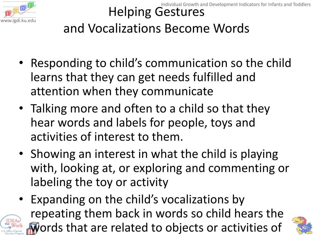 Helping Gestures