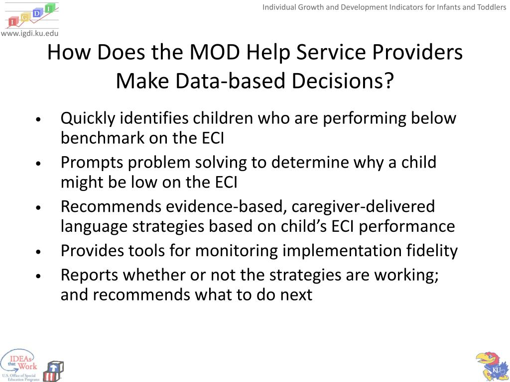 How Does the MOD Help Service Providers Make Data-based Decisions?