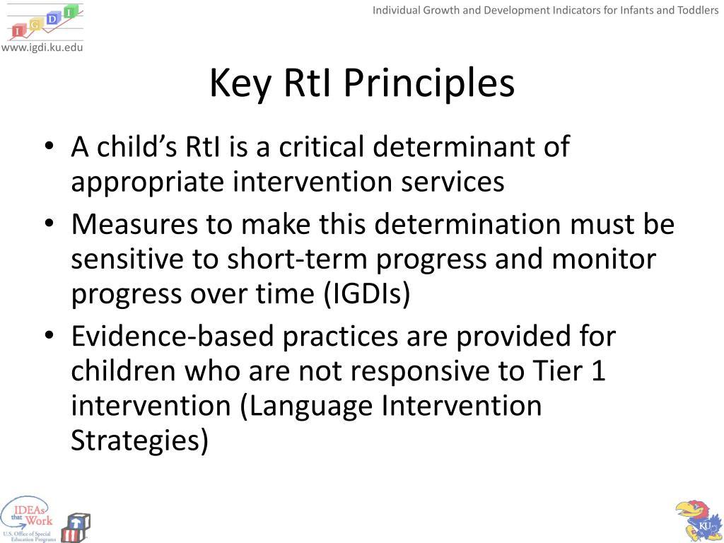 Key RtI Principles