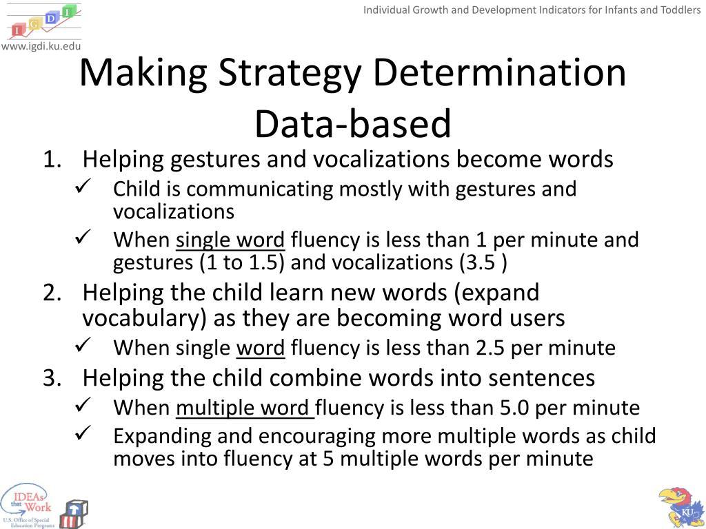 Making Strategy Determination Data-based