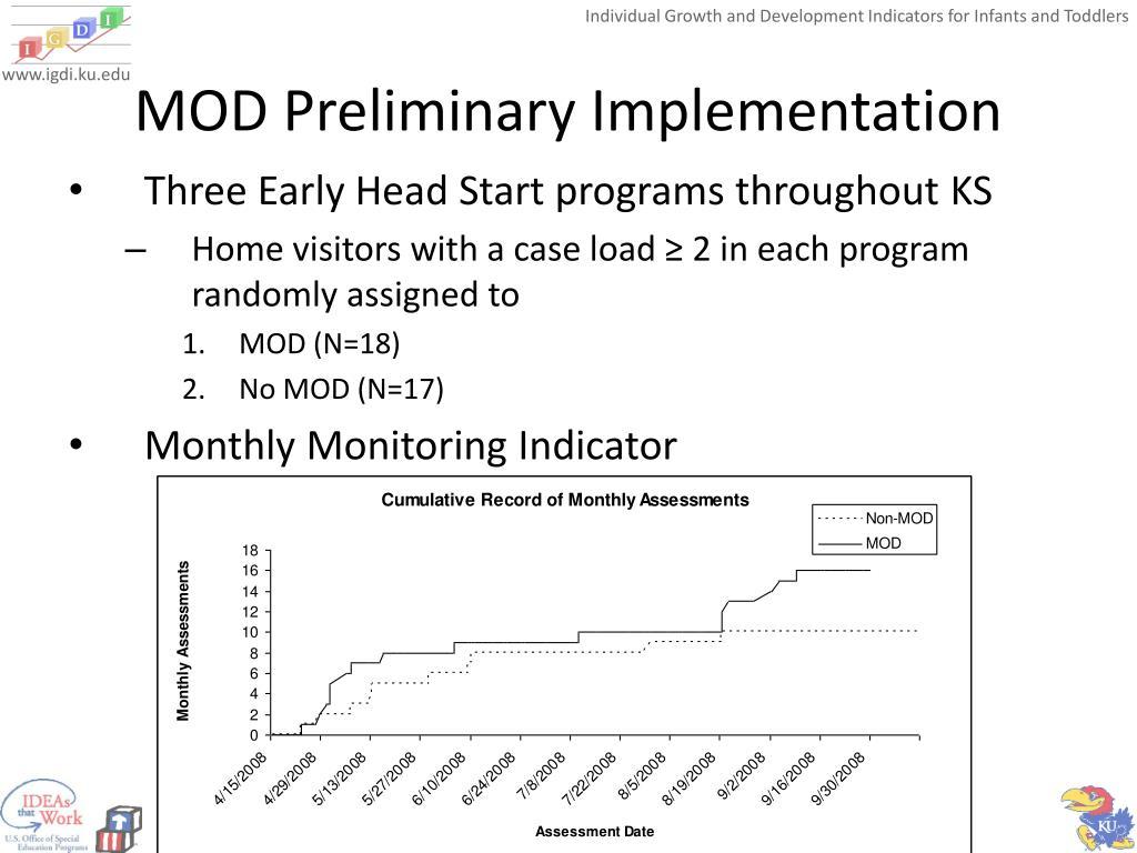 MOD Preliminary Implementation