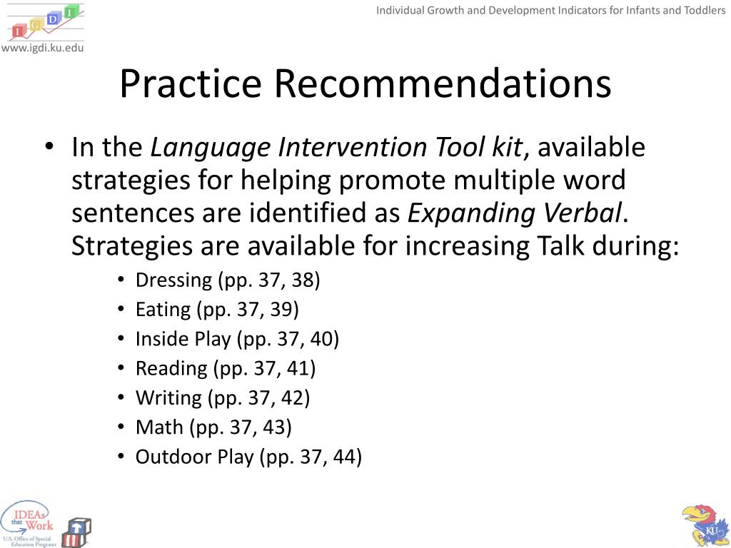 Practice Recommendations