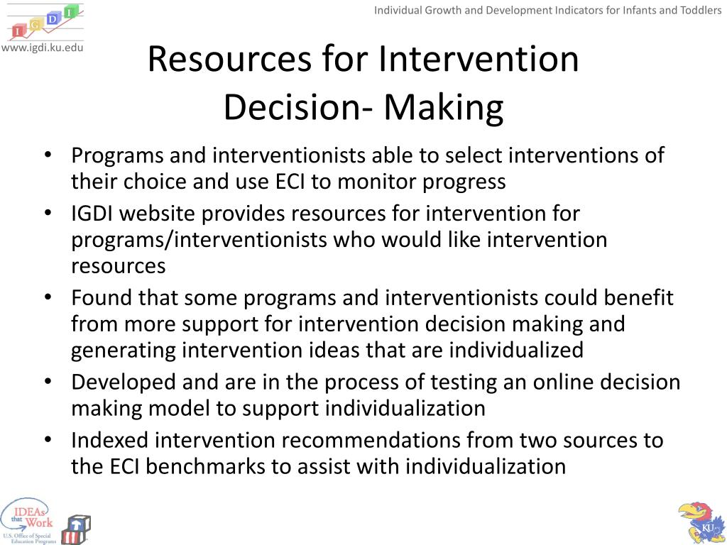 Resources for Intervention
