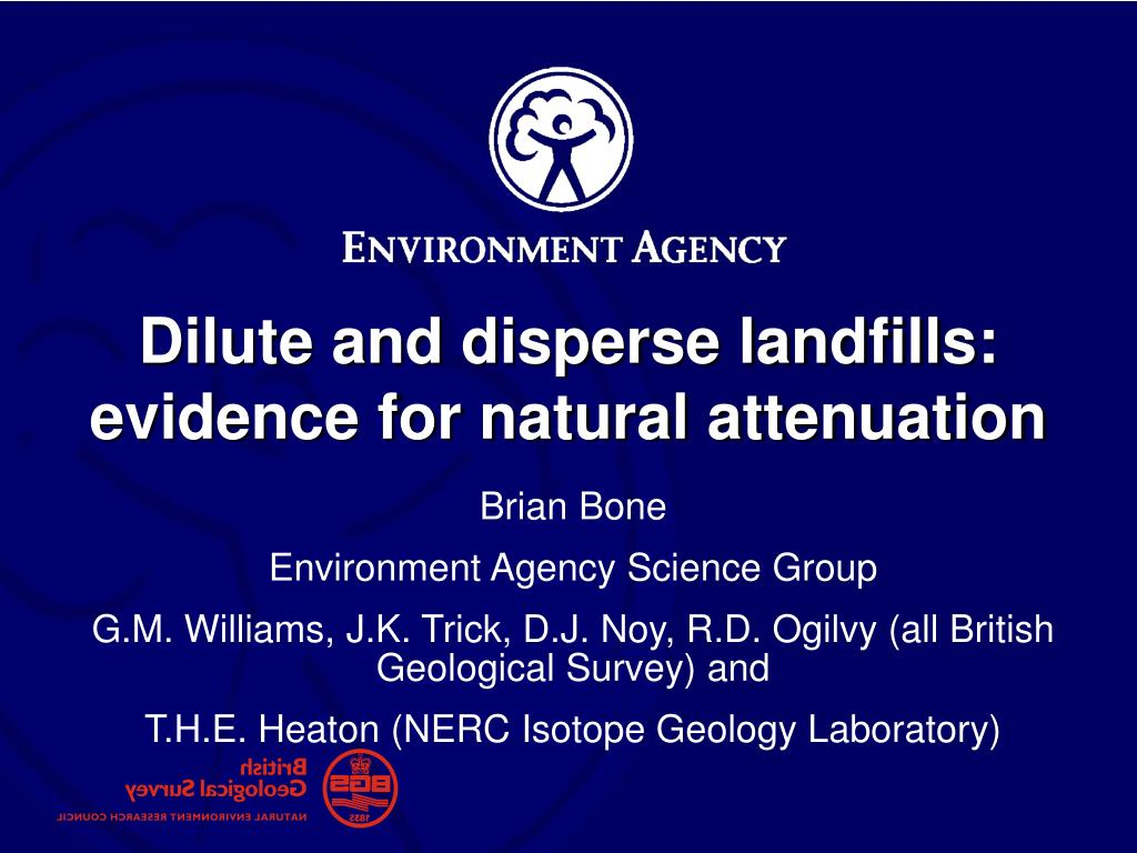 dilute and disperse landfills evidence for natural attenuation l.