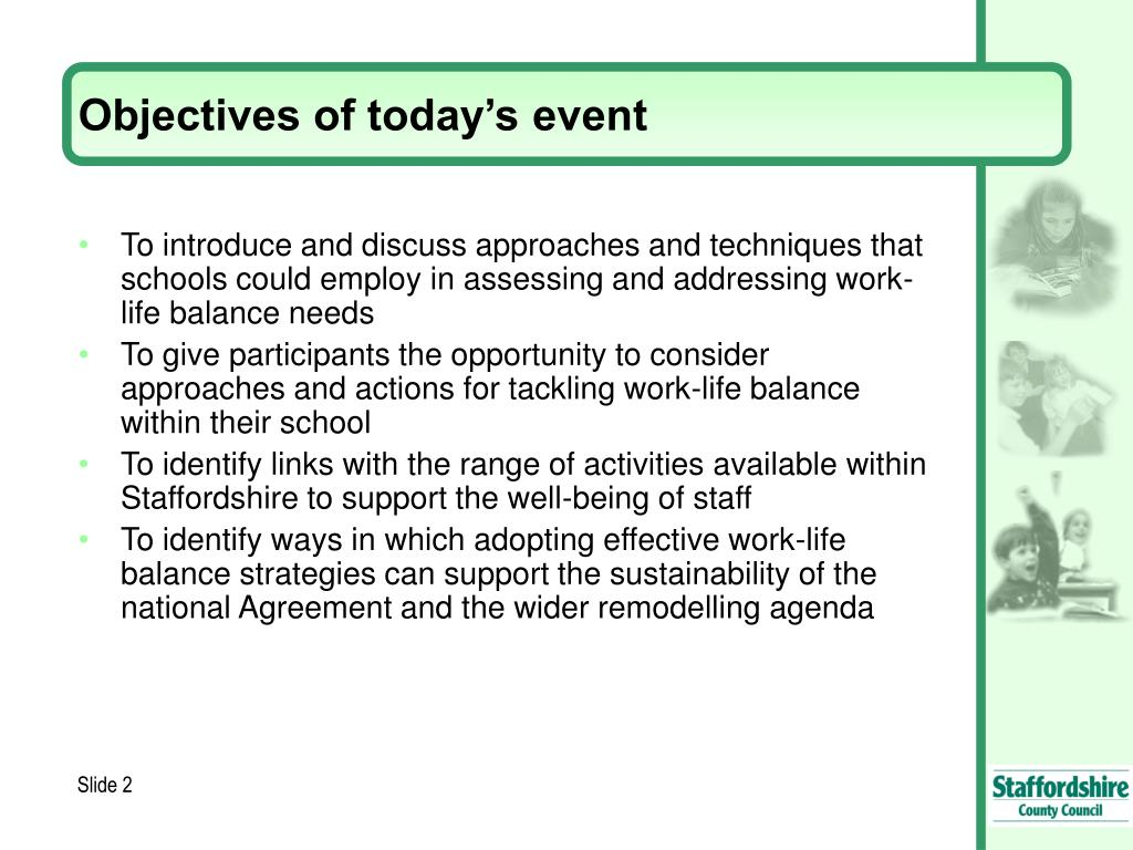 Objectives of today's event