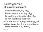 direct gen rec of excess carriers