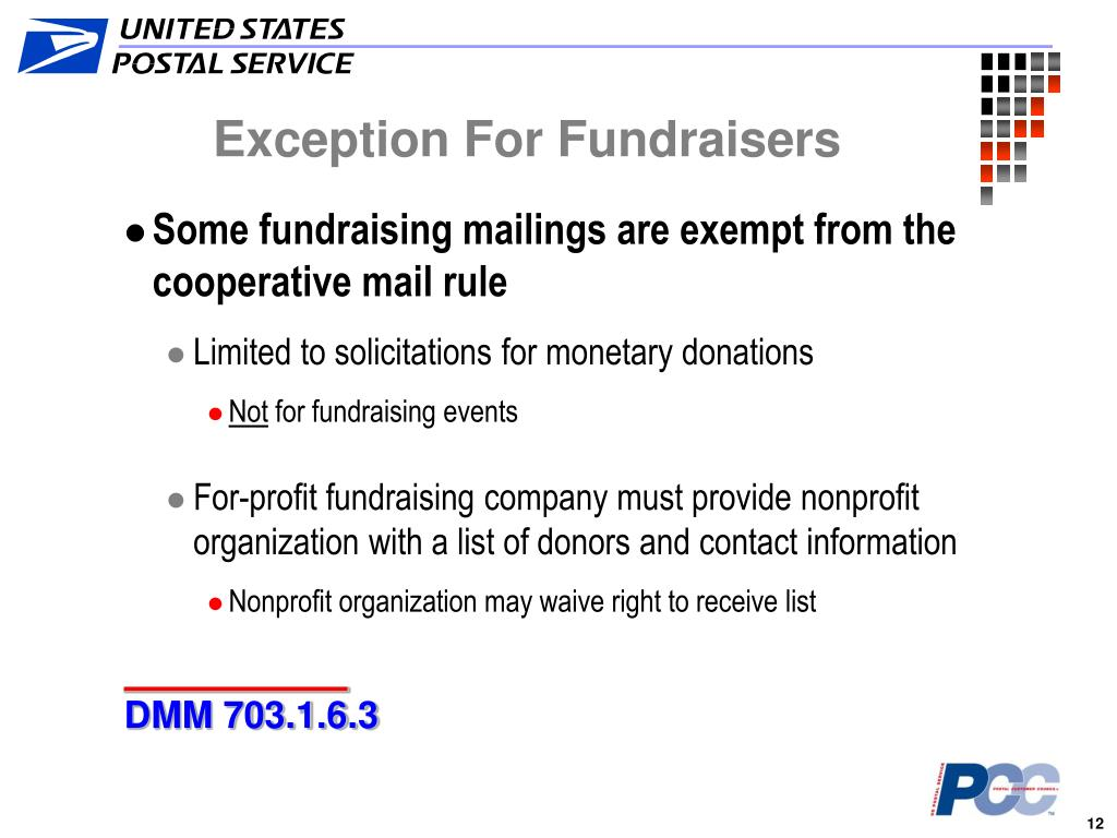 Exception For Fundraisers