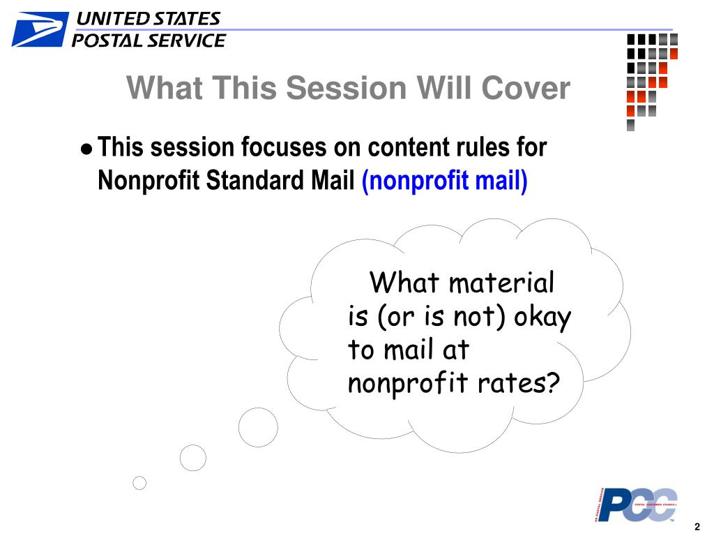 What material is (or is not) okay to mail at nonprofit rates?