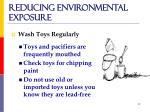 reducing environmental exposure
