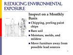 reducing environmental exposure15