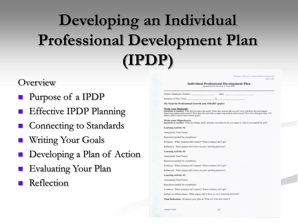 overview professional development plan improving the Program overview and requirements the professional development develop their professional development plan of improving the achievement.