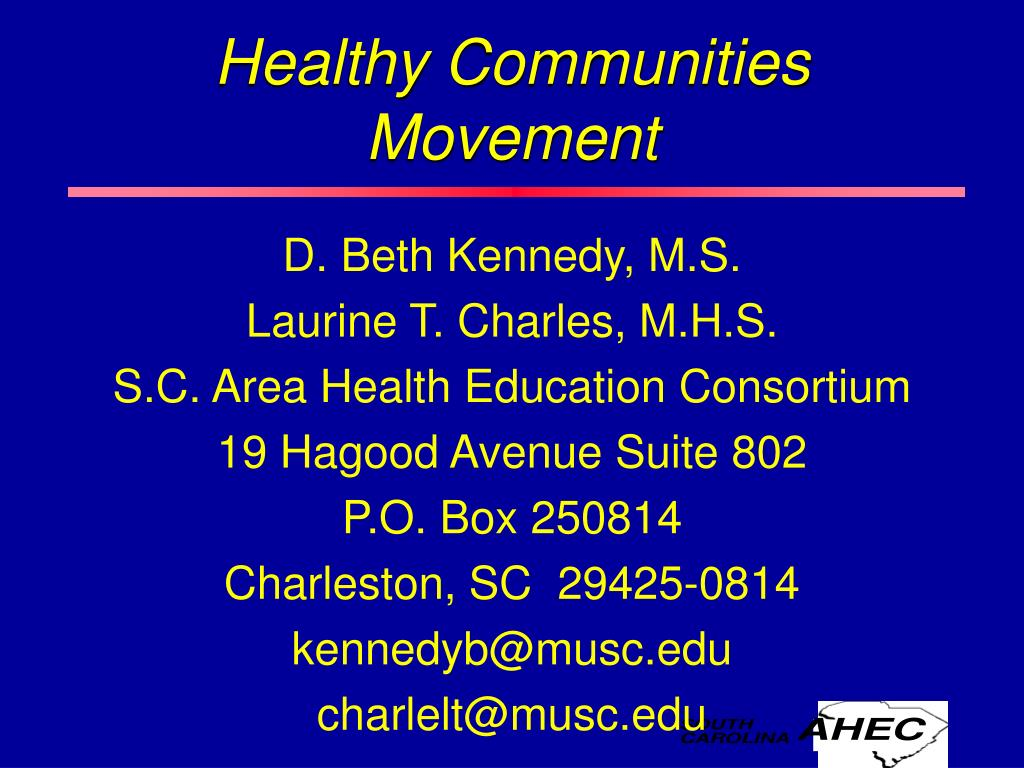 healthy communities movement l.