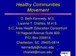 healthy communities movement