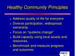 healthy community principles11