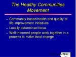 the healthy communities movement